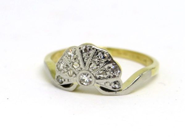 art deco fan ring