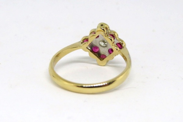 Art Deco Ruby and Diamond Ring