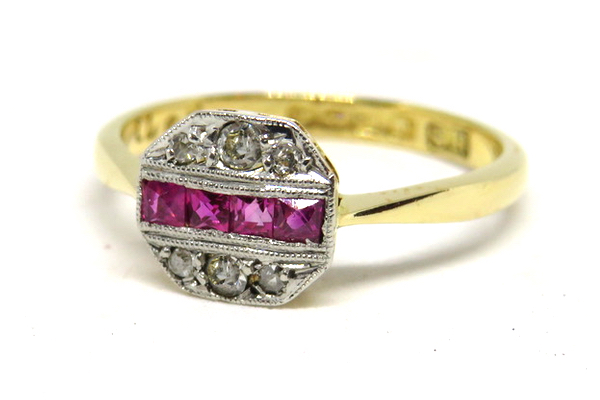 Art Deco Ruby and Diamond Ring-1- revised