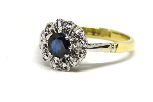 Sapphire Cluster ring-1