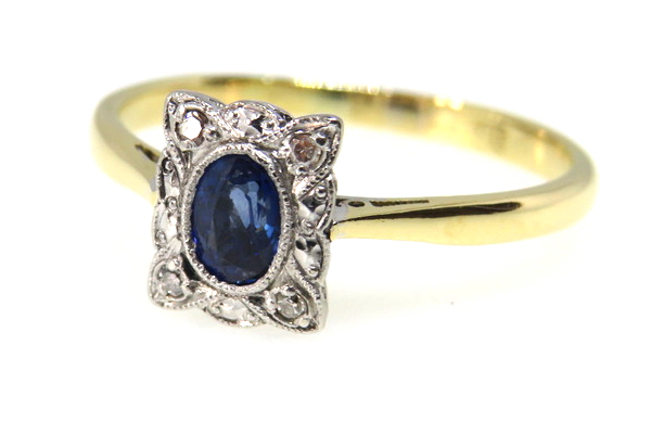 Art Deco Sapphire and Diamond Ring-1