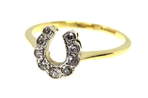 18ct Art Deco Diamond Horseshoe Ring
