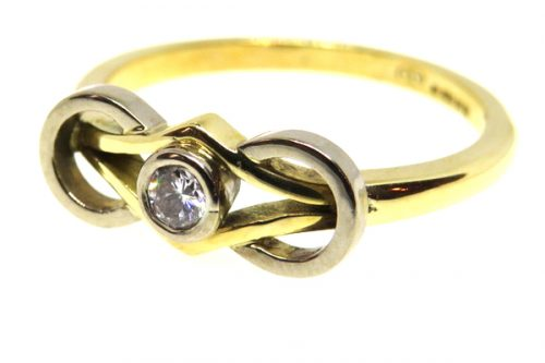 18ct Yellow Gold Vintage Diamond Solitaire Ring