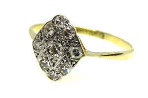 art deco diamond marquise ring
