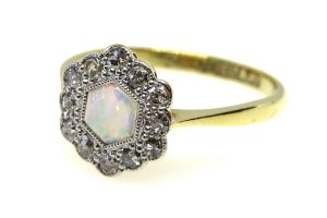 Edwardian Opal and Diamond Ring