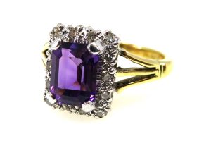 vintage Amethyst Statement Ring