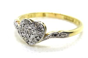 18ct Diamond Love Heart Ring