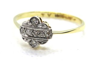 edwardian diamond panel ring