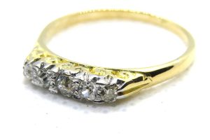 victorian old cut diamond ring